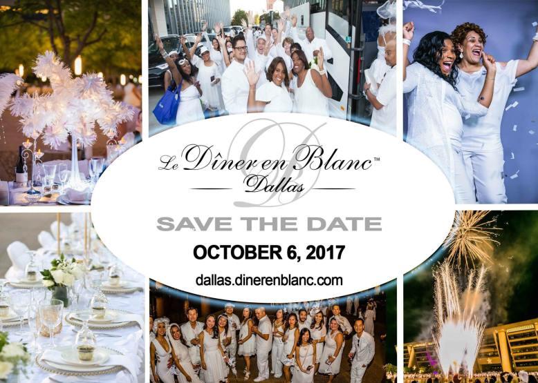 Diner en Blanc Dallas 2017 Date